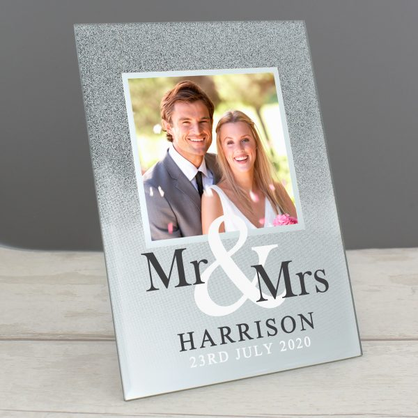 Mr & Mrs Personalised Glitter Frame