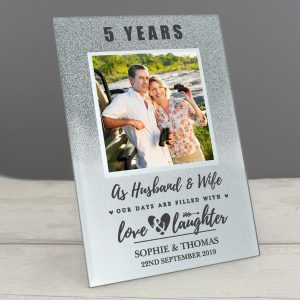 Personalised Anniversary Glitter Photo Frame
