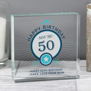 Personalised Birthday Crystal Token