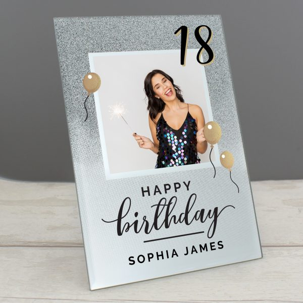 Personalised Glitter Birthday Photo Frame