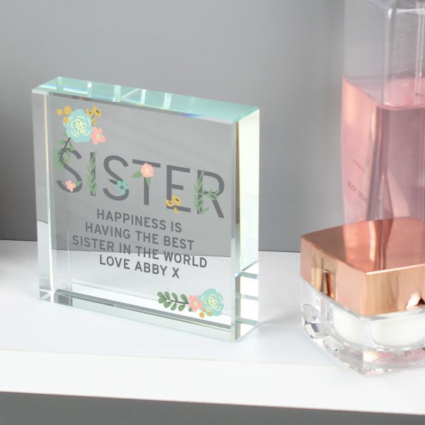 Personalised Sister Crystal Keepsake Gift