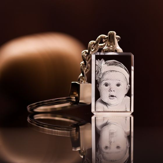 Engraved Photo Keychain