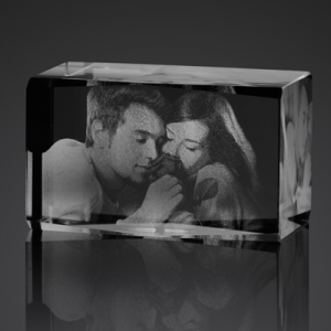 small 3d photo crystal