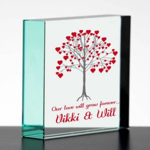 Personalised Anniversary Glass Gift