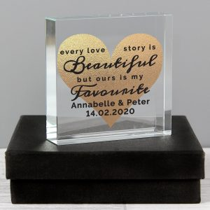 Every Love Story Personalised Crystal Token