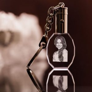 engraved photo keychain oval