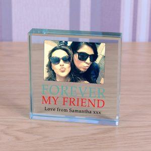 Photo Glass Block Friends