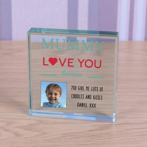 Glass Photo Block Mummy