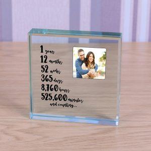 1st Anniversary Glass Gift