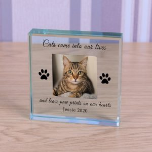 Personalised Photo Block Cat Memorial