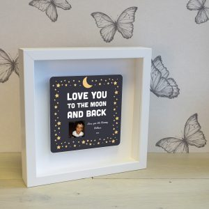 Moon and Back Personalised Frame