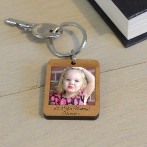 Wooden Photo Keyring