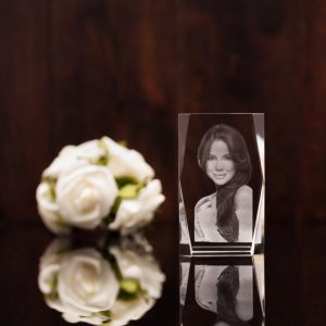 Bevelled 3D Photo Crystal Large
