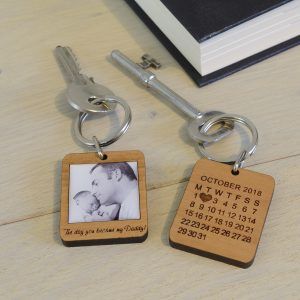 The Day You Became Daddy Keyring