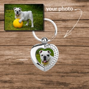 Colour Photo Heart Keyring