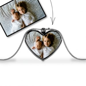 Colour Photo Heart Pendant
