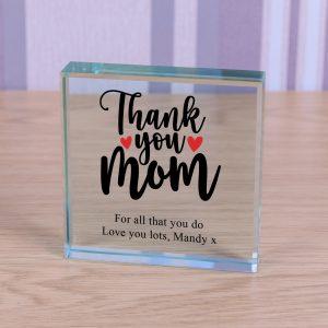 Glass Token - Thank You Mum