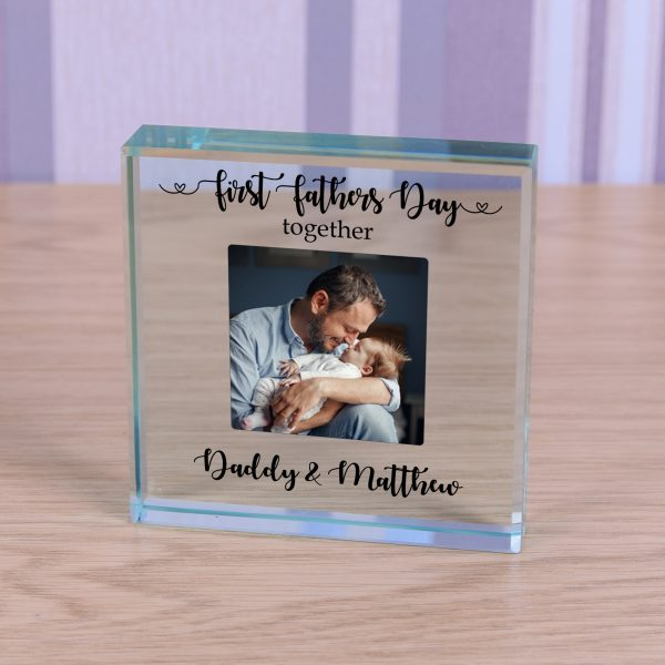Glass Token - First Fathers Day Together