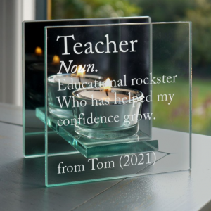 Teacher Thank You Tea Light Holder
