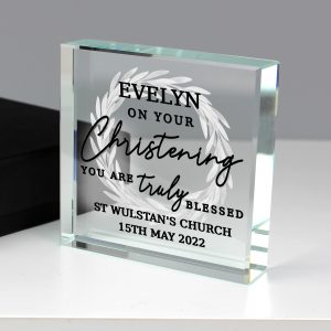Personalised 'Truly Blessed' Large Crystal Token