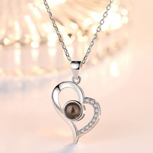 Photo Projection Heart Necklace