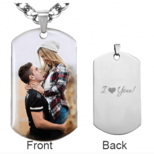 Photo Dog Tag Necklace