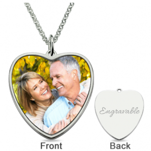 Colour Photo Necklace with Engraving