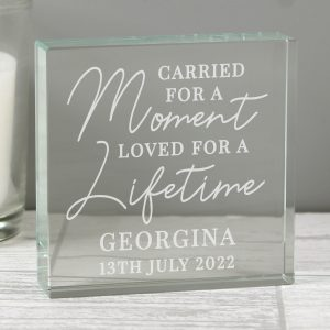 Personalised Carried for a Moment Large Crystal Token