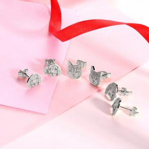Pet Photo Engraved Earrings